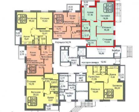 Продается 3-комнатная квартира 74 кв.м. этаж 6/15 ул. Хорошая - Фото 2