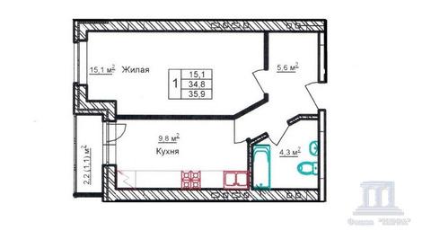 Продается 1к квартира в новом доме г. Батайск, - Фото 1