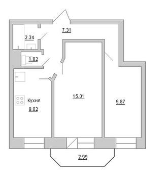 Продам 2к. квартиру. Кондратьевский пр-кт, д.58 к.1-1, Купить квартиру в Санкт-Петербурге по недорогой цене, ID объекта - 317898145 - Фото 1