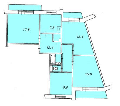 4 комнатная квартира в Солнечном - Фото 2