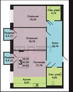 Дзержинского 6б 2 апартаменты в центре Казани ЖК Odette - Фото 3