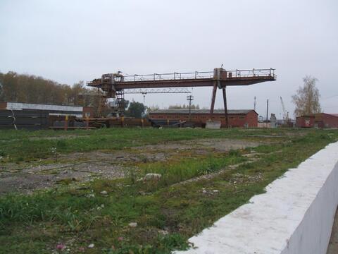 Сдается ! Открытая площадка 5000 кв. м ж/д ветка, Мостовой кран 10 т - Фото 4