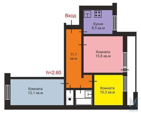 Продажа квартиры, Тверь, Ул. Паши Савельевой - Фото 1