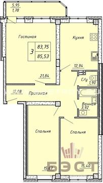 Квартира, ЖК Дом на ул. Сакко и Ванцетти, 10, ул. Сакко и Ванцетти, . - Фото 1