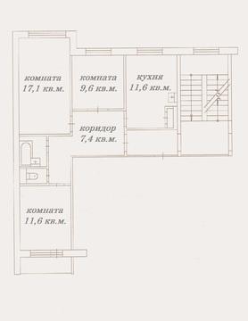 Лянгасова, 69а, 3 ком.кв, 66 кв.м. - Фото 1