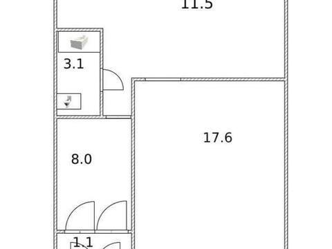 1 050 000 Руб., Продажа однокомнатной квартиры на улице Гоголя, 130 в Стерлитамаке, Купить квартиру в Стерлитамаке по недорогой цене, ID объекта - 320177872 - Фото 1