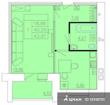 Продаю1комнатнуюквартиру, Кострома, Бульварная улица, 1, Купить квартиру в Костроме по недорогой цене, ID объекта - 323531146 - Фото 1
