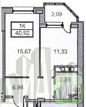 """1-комнатная квартира в новом доме квартал """"Премьер"""" - Фото 2"""