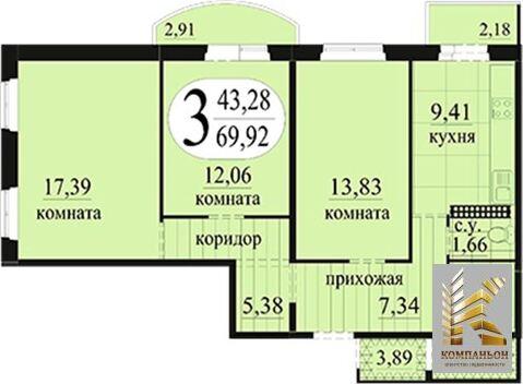 3 000 000 Руб., Продажа квартиры, Тюмень, Ул Беловежская, Продажа квартир в Тюмени, ID объекта - 329774110 - Фото 1