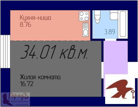 Квартира, ЖК Дома на Ливенской, ул. Ливенская, д.33 - Фото 1