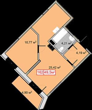 Продается 1-комнатная квартира 49,5м2 ЖК Новобулатниково, Ленинский рн - Фото 2