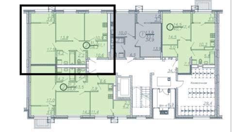Двухкомнатная квартира в комплексе «Венский лес» - Фото 2