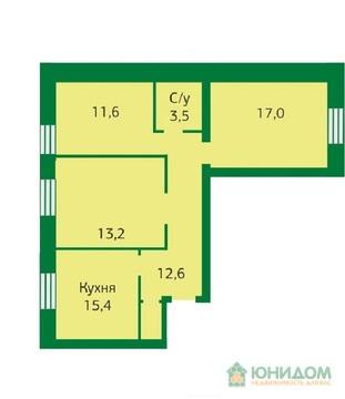 3 комнатная квартира в новом готовом кирпичном дому ул. Артамонова - Фото 1