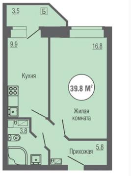 """Квартира в ЖК"""" Юность"""""""