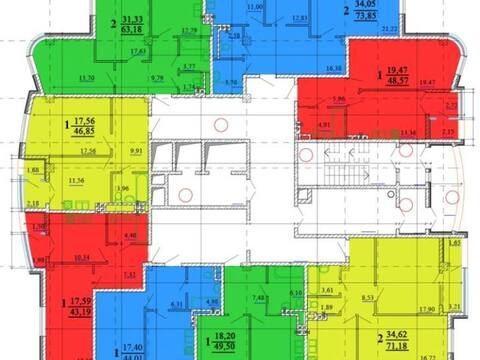Продажа однокомнатной квартиры на Кирпичной улице, 65 в Белгороде, Купить квартиру в Белгороде по недорогой цене, ID объекта - 319751947 - Фото 1