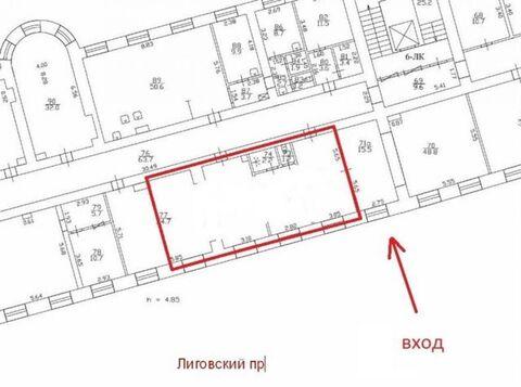 Сдам торговое помещение 80 кв.м, м. Площадь Восстания - Фото 3