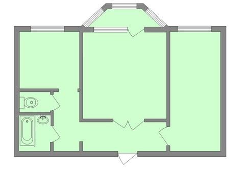 Квартира, пер. Артиллерийский, д.2 - Фото 1
