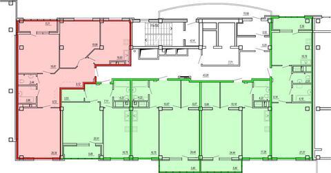 Продажа однокомнатная квартира 67.23м2 в ЖК Изумрудный секция б - Фото 2
