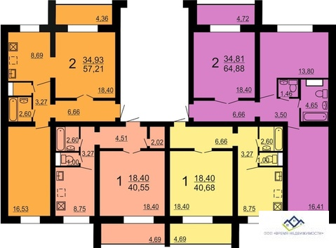Продам 2-тную квартиру Конструктора Духова 4, 67 кв.м.3эт. - Фото 3