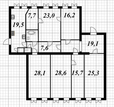 Продажа 7-ми комнатной квартиры на Каменноостровском пр.59 - Фото 4