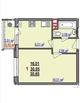 1-к квартира в новом доме - Фото 2