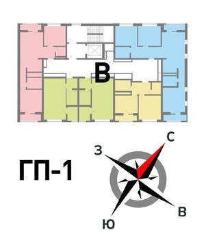 Продажа однокомнатная квартира 37.4м2 в ЖК Солнечный гп-1, секция в - Фото 2