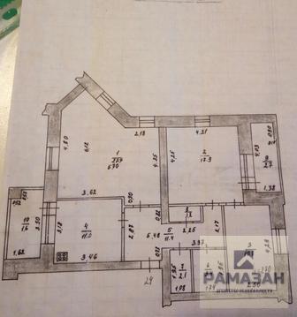 Трёхкомнатная квартира на Николая Ершова 49б - Фото 1
