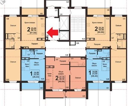 Студия+2 спальни в Академ Риверсайд. Университетская Набережная 85 - Фото 2