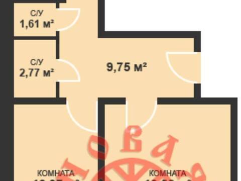 Продажа двухкомнатной квартиры в новостройке на Красногвардейской ., Купить квартиру в Самаре по недорогой цене, ID объекта - 320163536 - Фото 1