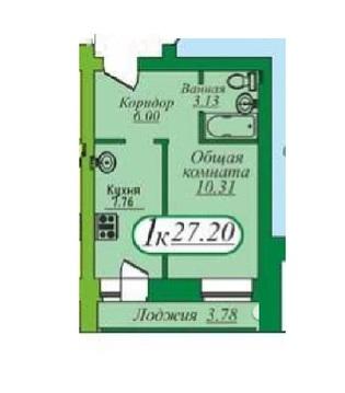 1 комнатная квартира в кирпичном доме, ул. Энергостроителей, д. 18 - Фото 5
