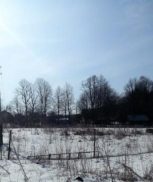 Участок 9 соток в д. Воробьи, свет, газ, водопровод - Фото 1