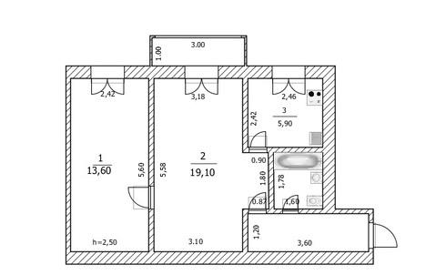 2 комнатная квартира на ул.Малая Печерская - Фото 4