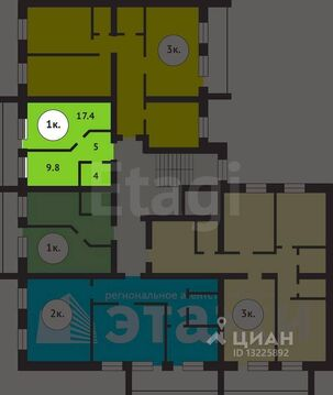 Продажа квартиры, Вологда, Ул. Дальняя, Купить квартиру в Вологде по недорогой цене, ID объекта - 324208206 - Фото 1