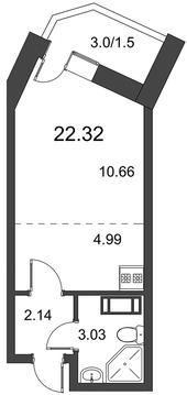 1 161 970 Руб., Продам студию. Дорога Жизни ш. к.3, Купить квартиру в Всеволожске по недорогой цене, ID объекта - 318418514 - Фото 1