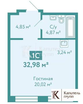 Объявление №65279647: Продаю 1 комн. квартиру. Тюмень, улица Павла Никольского, 4,