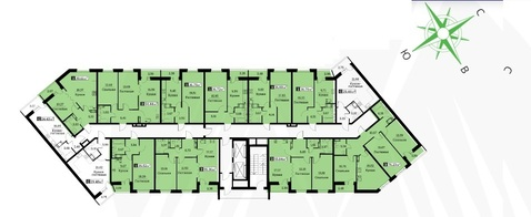 3 ккв. 76,23 м2 в жилом комплексе Цвета радуги 3 оч. корп. 3 - Фото 3