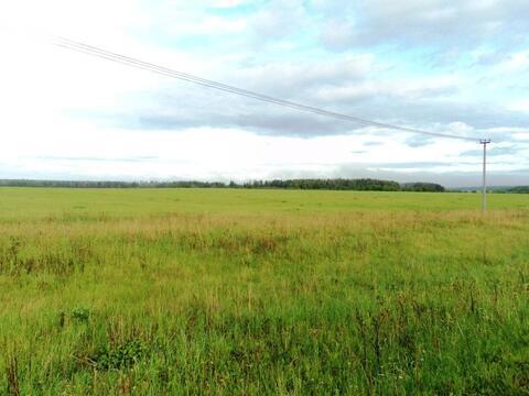 С/х земля 6,64 Га в деревне Милятино, асфальт, электричество, река - Фото 4