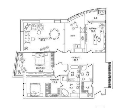 Продаётся видовая 4-комнатная кв-ра в ЖК Премиум класса Долина Сетунь - Фото 1
