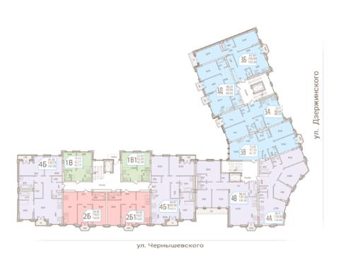 Дзержинского 6б 2 апартаменты в центре Казани ЖК Odette - Фото 4