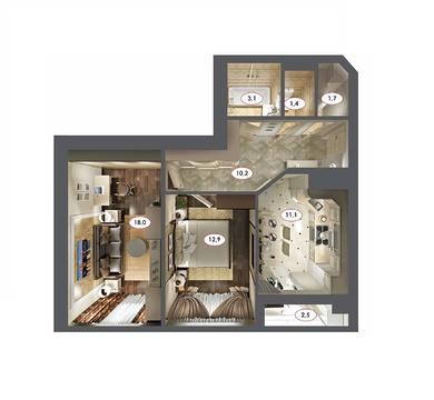 Продается 2-х комнатная квартира в сданном доме - Фото 1