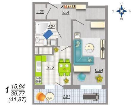 Квартира с отделкой в новом доме - Фото 1