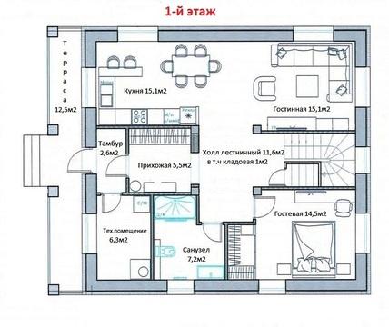 Дом в д.Крева 186м2 - Фото 2
