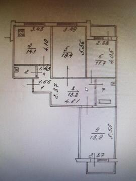 Трехкомнатная квартира: г.Липецк, Индустриальная улица, д.3 - Фото 2