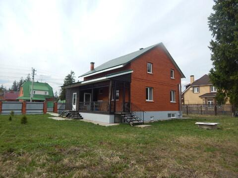 Новый кирпичный дом 240 кв.м. 12 сот. в 50 км от МКАД - Фото 1