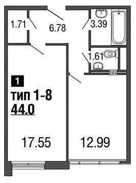 Продам 1к. квартиру. 2-я Советская ул, д.4, Купить квартиру в Санкт-Петербурге по недорогой цене, ID объекта - 317900521 - Фото 1