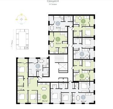 Г. Видное 1 комнатная квартира 33.3 кв.м. - Фото 2