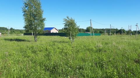 Участок 11.6 соток в д.Скрипово, рядом лес, водоем и п.Заокский - Фото 1
