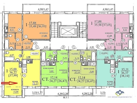 Продам однокомнатную квартиру Дзержинского 19 стр 26 кв.м 7 эт 999т.р - Фото 3