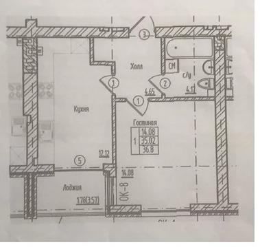 Объявление №50185911: Квартира 1 комн. Калининград, ул. Третьяковская, 5,