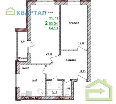 Продажа двухкомнатной квартиры Браер Парк Северный - Фото 5